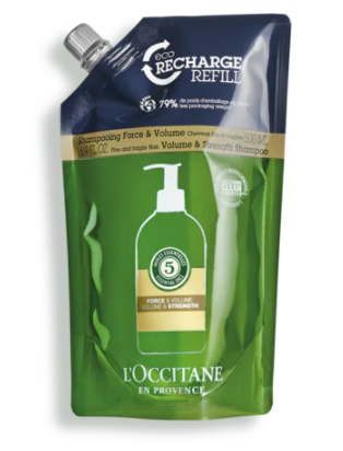 Eco-recharge Shampooing Force et Volume Aromachologie 500 ml