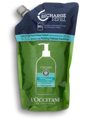 Eco-recharge Après-shampooing Fraîcheur Purifiante Aromachologie 500 ml