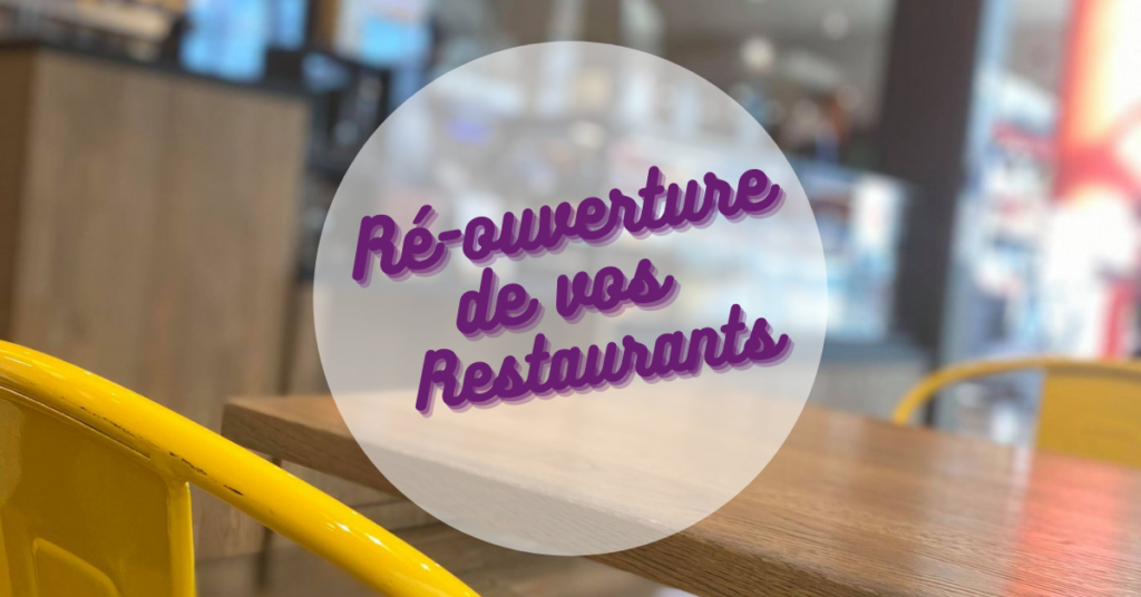 Vos restaurants sont ouverts BAY 2 COLLEGIEN