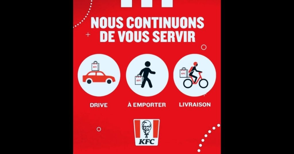 KFC à emporter, drive ou livraison