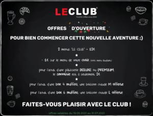 Les offres d'ouverture de votre nouveau Coffee Shop LE CLUB du Centre Commercial Carrefour Villabé